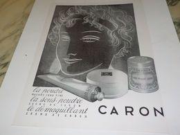 ANCIENNE PUBLICITE POUDRE LA SOUS POUDRE DE CARON 1953 - Affiches
