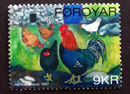 Faroe Islands  2007 .rooster And Chicken Animal     MiNr.612   ( O )  ( Lot E 1048) - Färöer Inseln