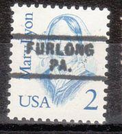 USA Precancel Vorausentwertung Preo, Locals Pennsylvania, Furlong 729 - Prematasellado