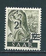 Saar MiNr. 229 ** Aufdruck Abklatsch  (sab19) - 1947-56 Occupation Alliée
