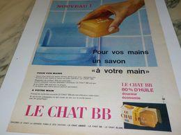 ANCIENNE PUBLICITE SAVON LE CHAT AMBRE  1959 - Reclame