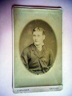 PHOTO CDV  19 EME HOMME CHIC MODE  Cabinet BOUCHER A ORLEANS Verso A Caractére Maconnique - Anciennes (Av. 1900)