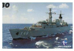 (13-8-202 Z) Warship / Bateau De Guerre - Telamar 30 - Brazil - Ship Pennant F 48 - Schiffe