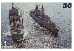 (13-8-202 Z) Warship / Bateau De Guerre - Telamar 30 - Brazil - Ship Replenishing - Schiffe