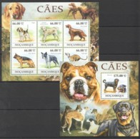 BC1246 2011 MOZAMBIQUE MOCAMBIQUE PETS DOGS CAES 1BL+1SH MNH - Hunde