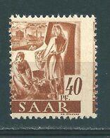 Saar MiNr. 218 ** Stark Verzähnt  (sab21) - 1947-56 Occupation Alliée