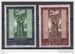 VATICANO:  1956  CAPESTRANO  -  S. CPL. 2  VAL. N. -  SASS. 214/15 - Neufs