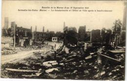 CPA Militaire - SERMAIZE-les-BAINS - La Gendarmerie Et L'Hotel (91703) - Sermaize-les-Bains
