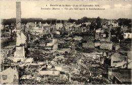 CPA Militaire - SERMAIZE - Vue Générale Apres Le Bombardement (91730) - Sermaize-les-Bains