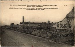 CPA Militaire - SERMAIZE-les-BAINS - Entrée Par La Rue De VITRY (91732) - Sermaize-les-Bains
