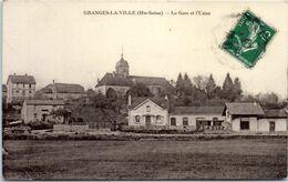 70 GRANGES La Ville - La Gare Et L'usine (pliée Coin Gauche) - Autres Communes