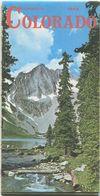 USA - Colorado Travel Map 1966 - Mehrfarbenkarte - Rückseitig 15 Abbildungen - Folletos Turísticos