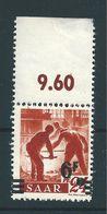 Saar MiNr. 233 ** Aufdruck Stark Verschoben  (sab30) - 1947-56 Occupation Alliée