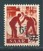 Saar MiNr. 233 Urmarke ** - Aufdruck Abklatsch  (sab30) - 1947-56 Occupation Alliée