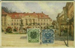 AK AUSTRIA - GRAZ - FRANZENSPLATZ - EDIT B.K.W.I. SERIE 936-8 - STAMPS - MAILED 1922 TO ITALY  (BG9651) - Graz