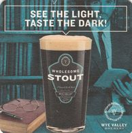 BEERMAT - WYE VALLEY BREWERY  (STOKE LACY, ENGLAND) - STOUT - (Cat No 088) - (2018) - Beer Mats