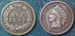 M_p> Stati Uniti 1 Cent 1907 Indian Head - 1859-1909: Indian Head