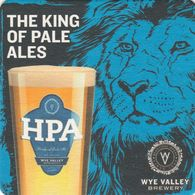 BEERMAT - WYE VALLEY BREWERY  (STOKE LACY, ENGLAND) - HPA - (Cat No 094) - (2019) - Beer Mats