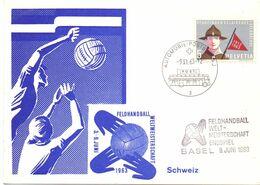 HELVETIA HANDBALL WIEN 1963 FANTASTIC  FDC COVER BASEL(AGO200158) - Handball