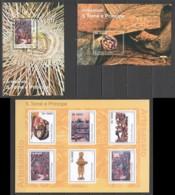 BC867 2010 S.TOME E PRINCIPE CULTURE ART ARTESANATO CRAFTS 1KB+2BL MNH - Cultures