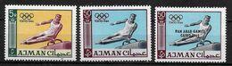 AJMAN    N° 31-36-46  * *      JO 1964  Gymnastique Arcon - Gymnastics