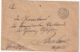 POLOGNE GOUVERNEMENT  PROVISOIRE 1918 LETTRE EN FRANCHISE DE WARSCHAU - Brieven En Documenten