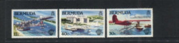 (stamps 13/8/2020) Aviation / Avions / Airplane - Bermuda (3 Mint Stamps) - Aviones