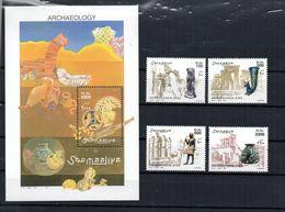 SOMALIA, 2001 - FOGLIETTO + SERIE - S/SHEET + SET - ARCHEOLOGIA - MNH** - Somalia (1960-...)