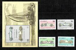 SOMALIA, 1999 - FOGLIETTO + SERIE - S/SHEET + SET - AUTO D'EPOCA - MNH** - Somalia (1960-...)