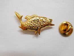 Superbe Pin's En Relief , Poisson Pêche , Carpe , Fish - Dieren