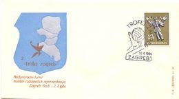 ZAGREB  HANDBALL 1964 FDC  FANTASTIC   COVER (AGO200160) - Handball