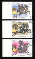 SOMALIA, 2003 - SERIE, SET - SOLDATI A CAVALLO - HORSE, MNH** BDF - Somalia (1960-...)