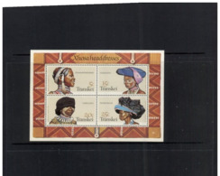 (stamps 13/8/2020) Transkey - Hat / Coiffe  (1 Mint Mini Sheet With4 Stamps) - Costumes