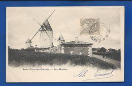 SAINT-FORT-sur-GIRONDE    Les Moulins      Animées     écrite En 1902 - Frankreich