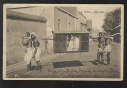 INDIA CALCUTTA PALKI OLD POSTCARD - Indien