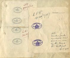 GB WWI UNIVERSITY DEPT SCIENTIFIC & INDUSTRIAL RESEARCH OFFICIAL MAIL 1917/1945 - Servizio