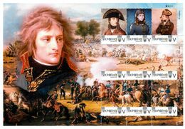 Ukraine 2019, Emperor Napoleon Bonaparte Wars, Sheetlet Of 9v - Ukraine