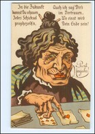 XX006759/ Kartenlegen Zukunft  Alte Frau Humor Litho AK  Neujahr - Humor