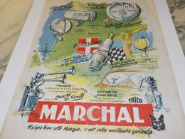 ANCIENNE PUBLICITE  PHARE MARCHAL 1954 - Other