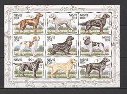 A0022 NEVIS FAUNA PETS DOGS HUNTINGS BIRDS 1KB MNH - Honden