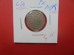 U.S.A  5 Cents 1898 (A.14) - EDICIONES FEDERALES