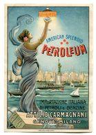 "FOGLIO PUBBLICITA' ADVERTISING-AMERICAN SPLENDID ""PETROLEUM""A.CARMIGNANI-GENOVA-MILANO - Advertising"