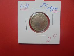 U.S.A  5 Cents 1910 (A.14) - 1883-1913: Liberty