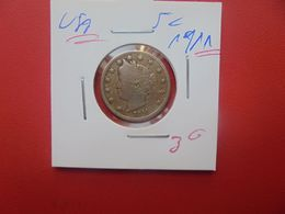 U.S.A  5 Cents 1911 (A.14) - 1883-1913: Liberty