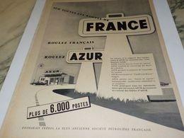 ANCIENNE PUBLICITE ROULONS FRANCAIS ROULONS   AZUR  1958 - Other