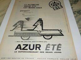 ANCIENNE PUBLICITE CARBURANT AZUR  1959 - Other