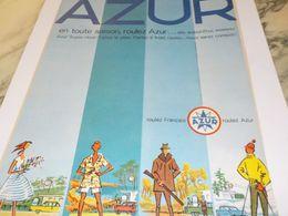 ANCIENNE PUBLICITE TOUTE SAISON CARBURANT AZUR  1959 - Other