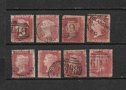Lot 8 Queen Victoria 1p Rouge, Dentelé / Oblitérés / Edinburgh 1876 / Glasgow 1880 - 1840-1901 (Victoria)