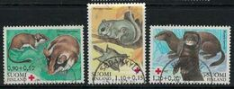 1982 Finland, Red Cross, Endangered Small Mammals Complete Set Used - Finnland