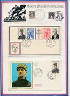 FRANCE - 1 ENV ET 1 FDC GENERAL DE GAULLE OBLI ST DENIS LA REUNION + BEAULIEU SUR MER 09.11.1971 - De Gaulle (Général)